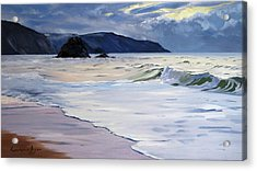 The Black Rock Widemouth Bay Acrylic Print