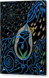 The Black Rose Acrylic Print by Michelle Meaney
