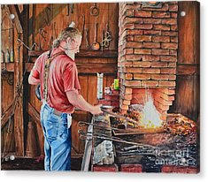 The Blacksmith Acrylic Print by Gina Croce