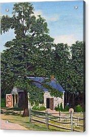 The Blacksmith Shop Acrylic Print by Donald Hofer