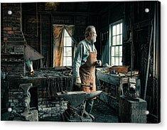 Acrylic Print featuring the photograph The Blacksmith - Smith by Gary Heller