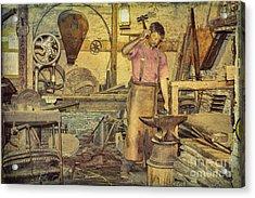 The Blacksmith's Forge Acrylic Print by Elaine Teague