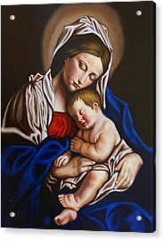 The Blessed Mother And The Infant Jesus Acrylic Print