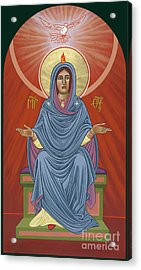 Acrylic Print featuring the painting The Blessed Virgin Mary, Mother Of The Church by William Hart McNichols