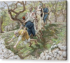 The Blind Leading The Blind Acrylic Print by Tissot