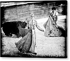The Blond, The Bull And The Coup De Gras Bullfight Acrylic Print