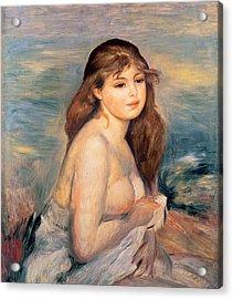 The Blonde Bather Acrylic Print by Pierre Auguste Renoir
