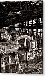 The Blower House At Bethlehem Steel  Acrylic Print by Olivier Le Queinec