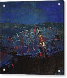 Acrylic Print featuring the painting The Blue by Anastasija Kraineva