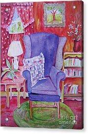 The Blue Chair Acrylic Print by Marlene Robbins