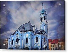 The Blue Church In Bratislava Slovakia Acrylic Print by Carol Japp
