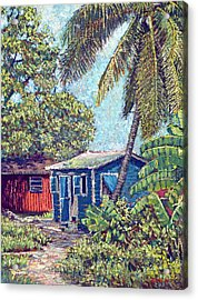 The Blue Cottage Acrylic Print