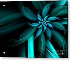 The Blue Dahlia Reprise Acrylic Print