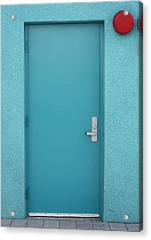 The Blue Door Acrylic Print by Carl Purcell