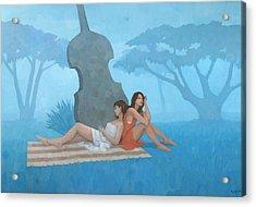 The Blue Garden Acrylic Print