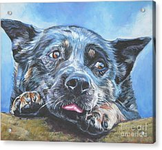 Acrylic Print featuring the painting The Blue Heeler by Lee Ann Shepard