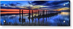 The Blue Hour Comes To St. Marks #2 Acrylic Print