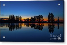 The Blue Hour.. Acrylic Print by Nina Stavlund