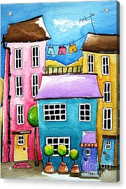 The Blue House Acrylic Print by Lucia Stewart