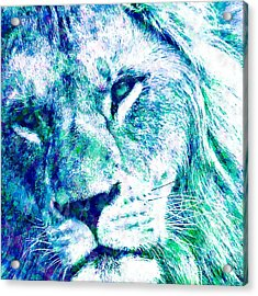The Blue Lion Acrylic Print by Stacey Chiew