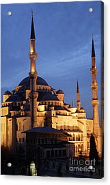 The Blue Mosque Istanbul Acrylic Print by Steve Outram