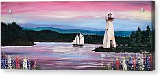 The Blue Nose II At Baddeck Nova Scotia Acrylic Print