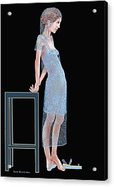 The Blue Outfit Acrylic Print