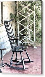 The Blue Rocking Chair  Acrylic Print