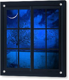 The Blue Window Acrylic Print