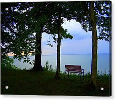The Bluffs Bench Acrylic Print