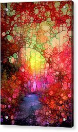 The Blurry Memories Of Autumn Acrylic Print by Tara Turner