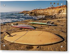 The Boards Acrylic Print by Peter Tellone
