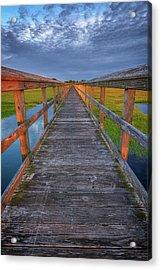 The Boardwalk In The Marsh Acrylic Print by Rick Berk