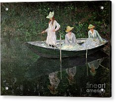 The Boat At Giverny Acrylic Print by Claude Monet