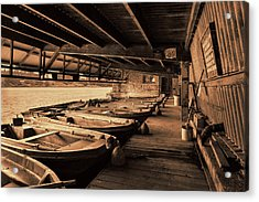 Acrylic Print featuring the photograph The Boat House  by Scott Carruthers