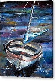 The Boat Acrylic Print by Phil Burton
