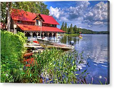 Acrylic Print featuring the photograph The Boathouse At Covewood by David Patterson