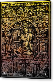 The Bodhisattva Samantabhadra Borobudur Java Acrylic Print by Larry Butterworth