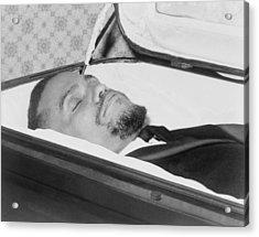 The Body Of Malcolm X, Slain Negro Acrylic Print