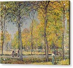 The Bois De Boulogne Acrylic Print by Alfred Sisley