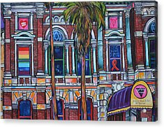 Acrylic Print featuring the painting The Bonham Exchange Close Up by Patti Schermerhorn