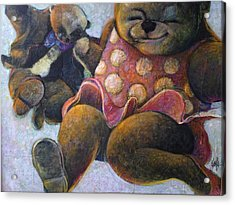 The Boogie Woogy Bears Acrylic Print by Eleatta Diver