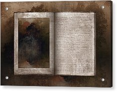 The Book Of Life Acrylic Print by Ron Jones