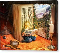 The Book Of Magic Acrylic Print by Eugene James