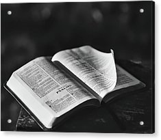 The Book Of Psalms Acrylic Print by Aaron Burden