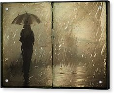 The Book Of Rain Acrylic Print by H James Hoff