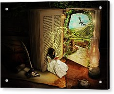 The Book Of Secrets Acrylic Print by Donika Nikova