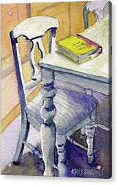 Acrylic Print featuring the painting The Bookmark by Kris Parins