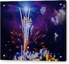 The Boom Acrylic Print by Larry Bodinson