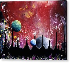 The Border Of Orion Acrylic Print by Lee Pantas